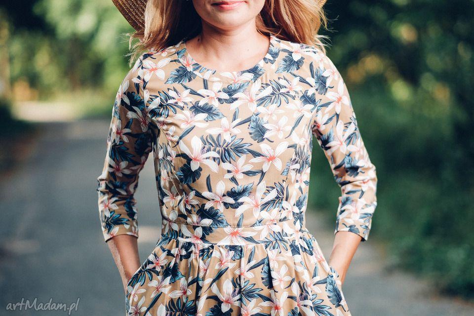 Frapujace Sukienki Sukienka Midi Z Wzorem W Kwiaty Rozmiar Floral Tops Casual Dress Dresses