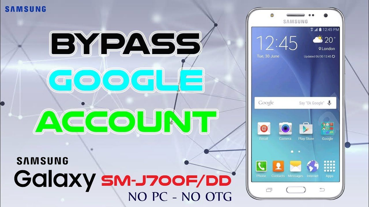 Bypass Google Account Samsung j7 SM-J700F/DD 6 0 1 NO PC NO OTG