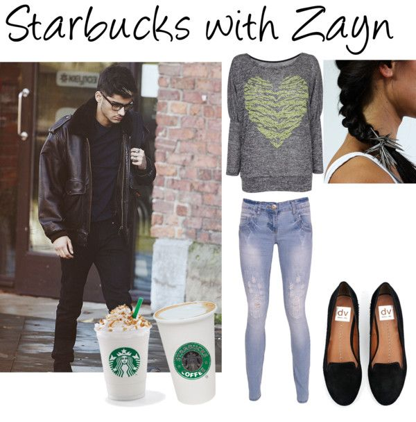 """Starbucks with Zayn Malik 3"" by natasha-pimentel ❤ liked on Polyvore"