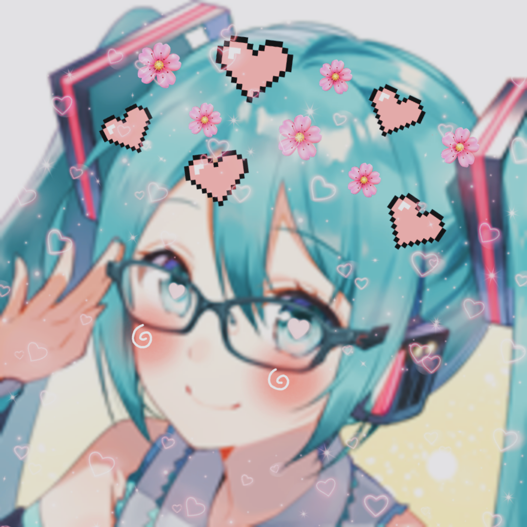 lovecore miku icons!! happy birthday to the... (With
