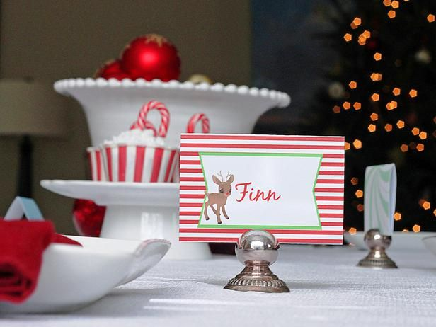 Templates For Customizable Holiday Place Setting Cards Place Setting Cards Christmas Seating Cards Christmas Place Cards