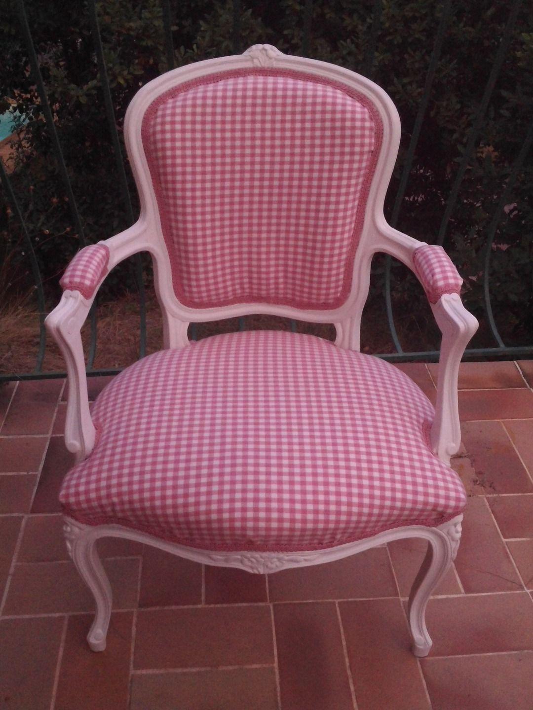 Fauteuil Bergère Style Louis XV Relooké Meubles Et Rangements Par - Formation decorateur interieur avec fauteuil a oreille design