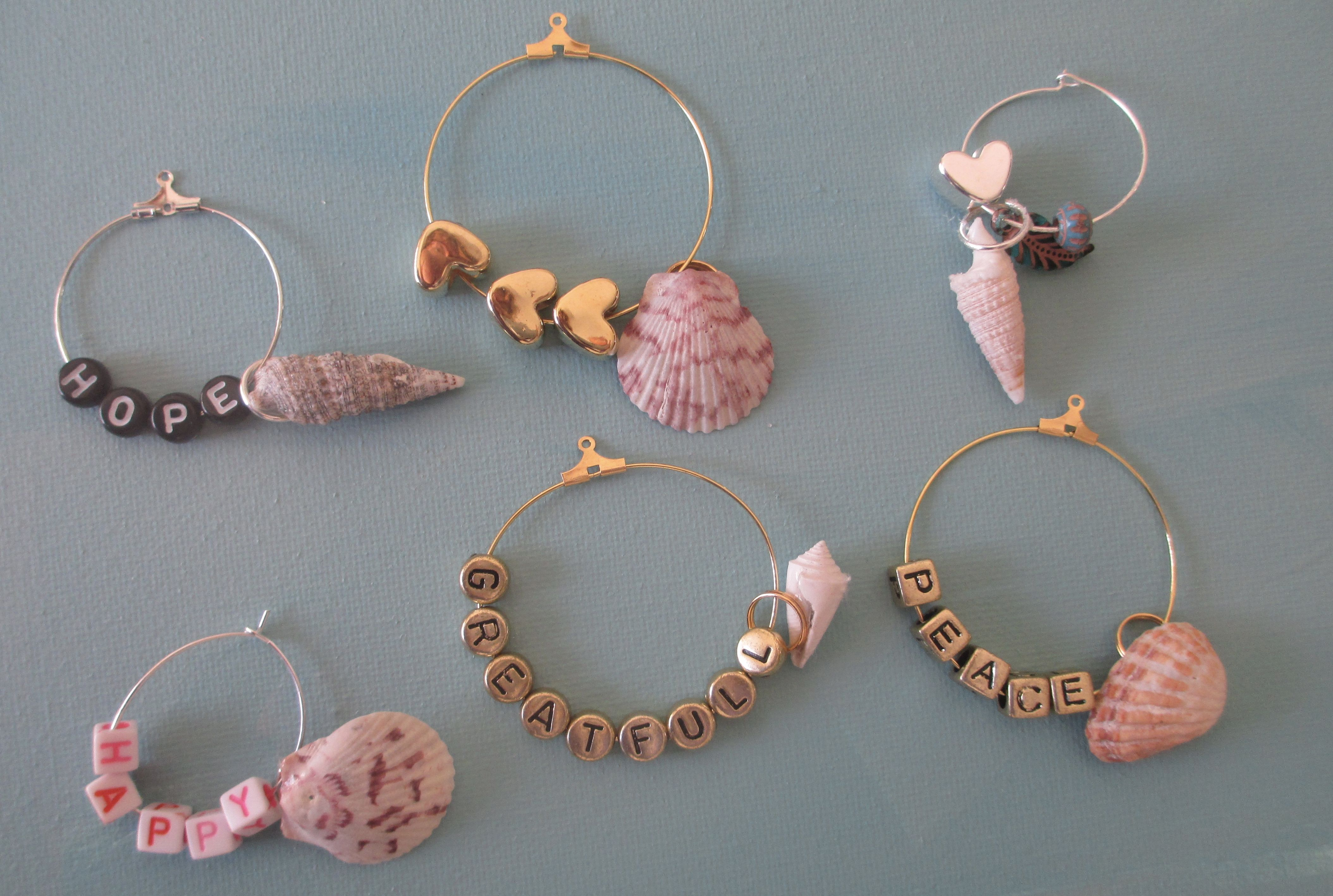 Seashell Wine Charms In