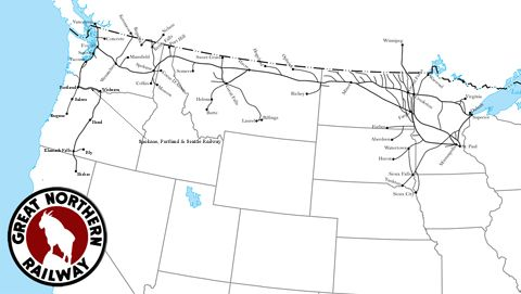 The Great Northern Railway | Railroads-Great Northern ... on ferromex map, texas railroad tracks map, union pacific railroad map, spokane portland and seattle railway map, kansas city southern railroad map, csx railroad map, illinois central railroad route map, bnsf map, burlington route map, florida railroad map, milwaukee electric railroad lines map, riyadh metro map, milwaukee road map, milwaukee railroad route map, norfolk southern railroad track map, b&o railroad map, central pacific rail lines map, metropolitan milwaukee railroad tracks map, dakota minnesota and eastern railroad map, berlin germany capital map,