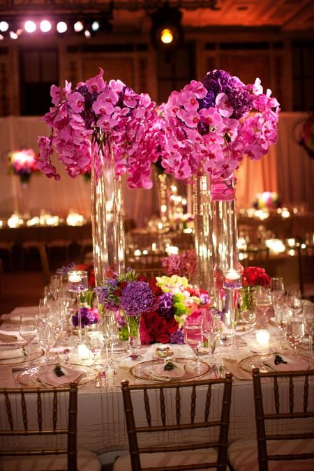 Beautiful Orchid Tall Centerpiece