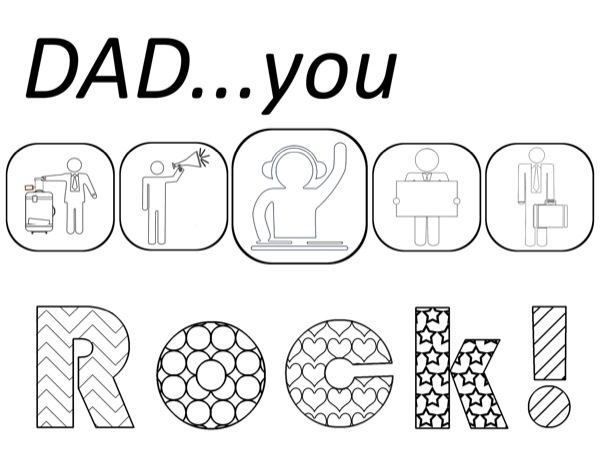 Father\'s Day Coloring Pages | Dads, Crafty and Pdf