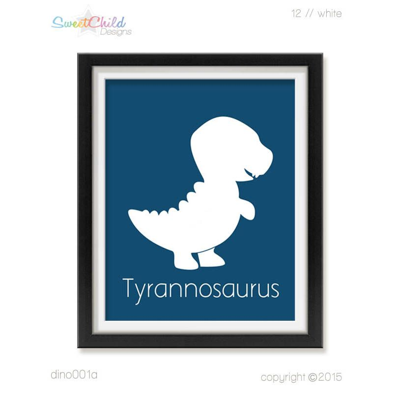 Tyrannosaurus Art for Baby Nursery Dinosaur Nursery Art for Baby Boy Room Dinosaur Wall Art for Nursery Dinosaur Room Decor Art Dino001 - $14.95+
