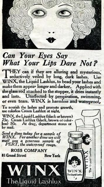 Winx Waterproof Mascara, April 1923. *gasp*