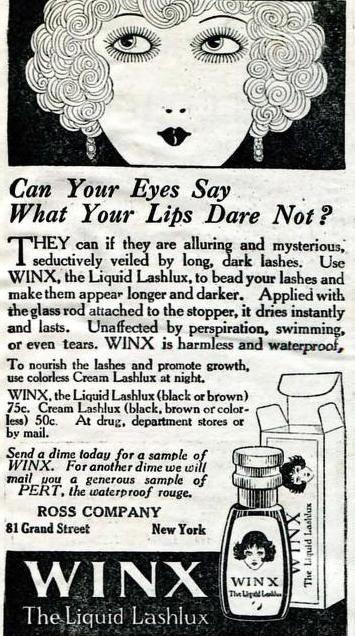 Winx Waterproof Mascara April 1923 Gasp Vintage Ads Makeup - 1920s-makeup-ads