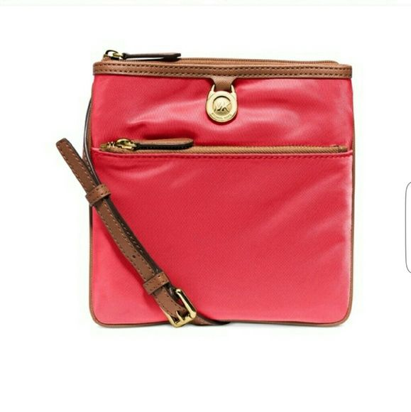 8d6127e291b0 NWT MICHAEL KORS SMALL KEMPTON CROSSBODY Mk Kempton crossbody 100%  AUTHENTIC Color  Watermelon Retail  88 NO LOWBALLS  NO TRADES  NO HOLDS Michael  Kors Bags ...