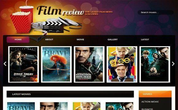 Film Reviews Blogger Template Website Templates Pinterest - film review template