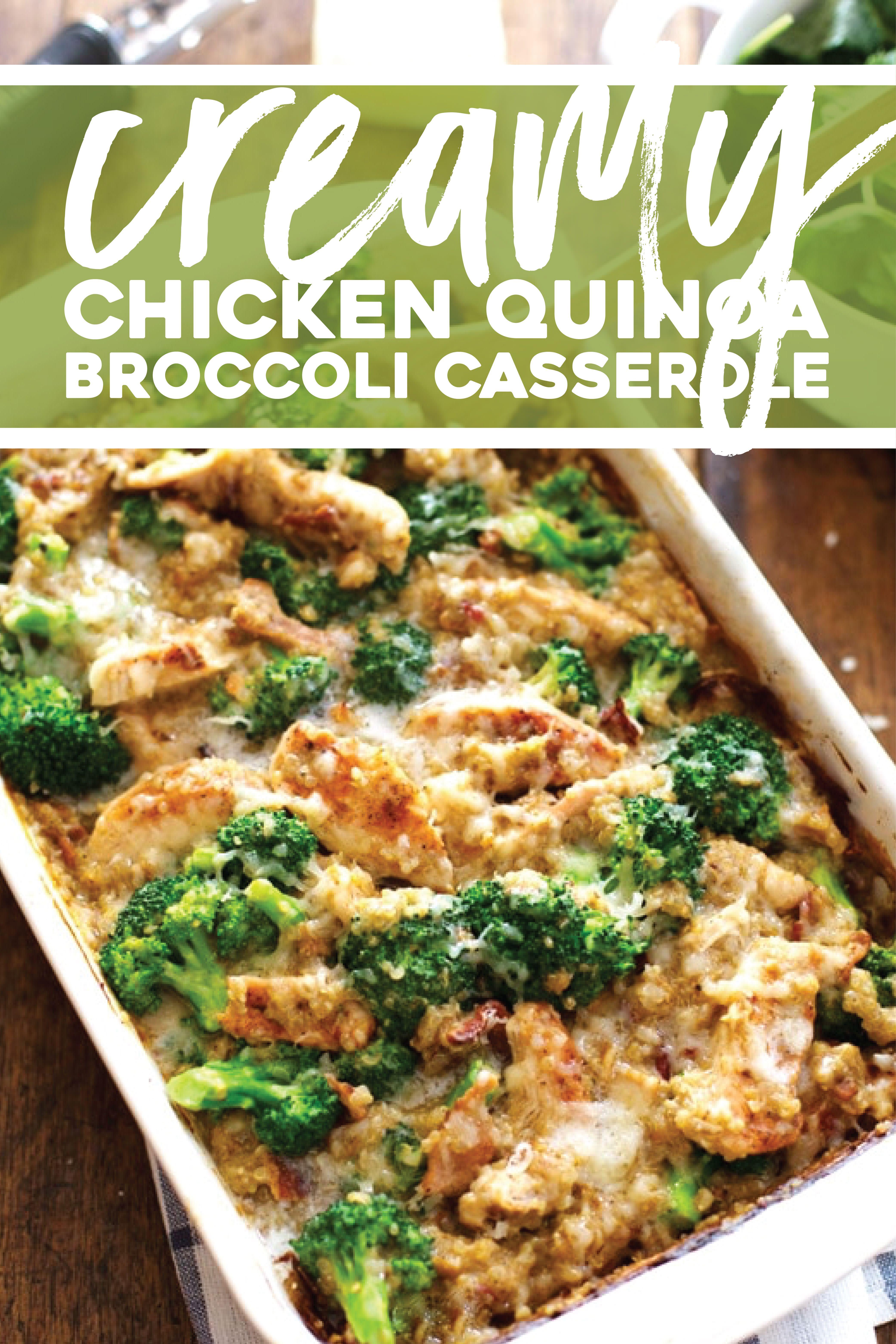 Photo of Creamy Chicken Quinoa Broccoli Casserole