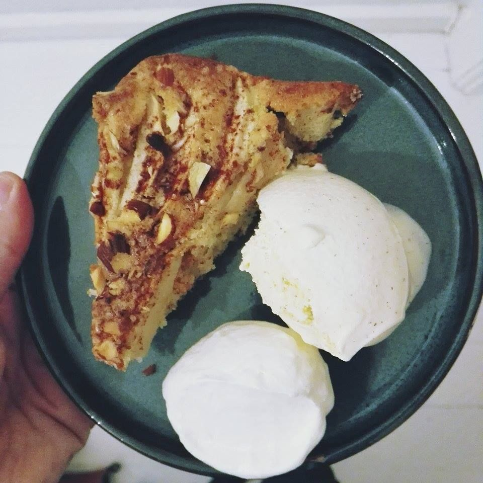 The best apple cake I've ever tasted. You should try it