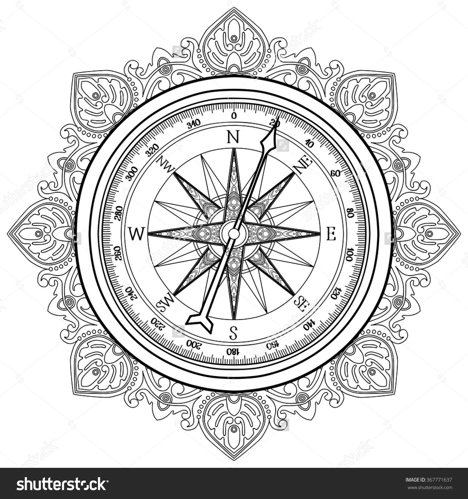 Image Result For Adult Coloring Compass Wind Rose Compass Art