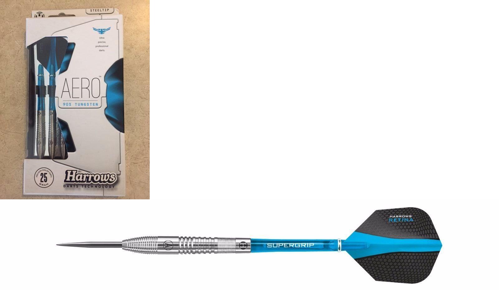 Darts-Steel Tips 26332: Harrows Aero 25G 90% Tungsten Steel Tip Darts BUY IT NOW ONLY: $56.61