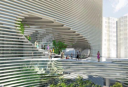 Best Big Unveils Gigantic Cube Building With A Rooftop Park 400 x 300