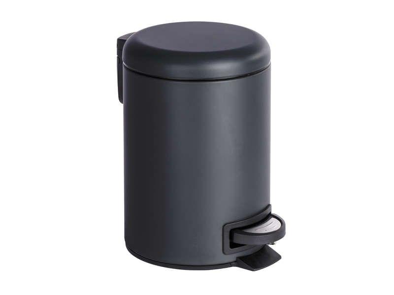 Poubelle de salle de bain 2L BRASIL Coloris noir - pas cher ...