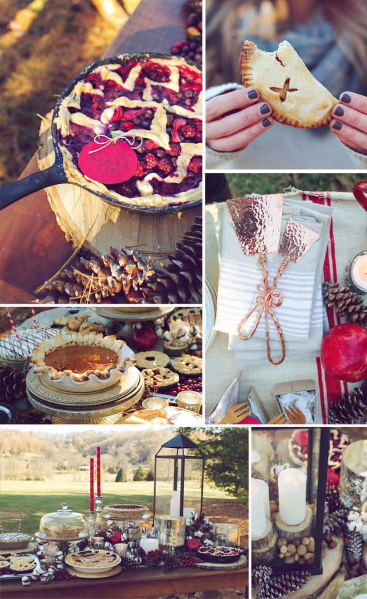 How about hosting a pie and wine gathering? You can make the pies, or pick them up. Drag some furniture outside, as there are many days left when a jacket and a fire pit will keep you satisfyingly warm. Take this idea as one to simply daydream about (like most of us here!), or use this inspired plan to recreate a pie party of your own!