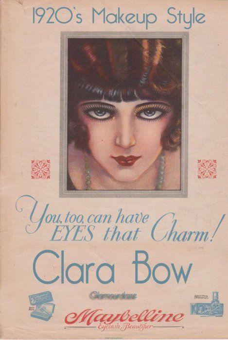 1920s Makeup Style Clara Bow The 1920s Pinterest Makeup - 1920s-makeup-ads