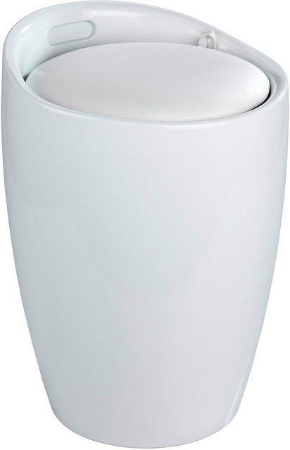 Hocker, mit abnehmbarem Wäschesack Badhocker
