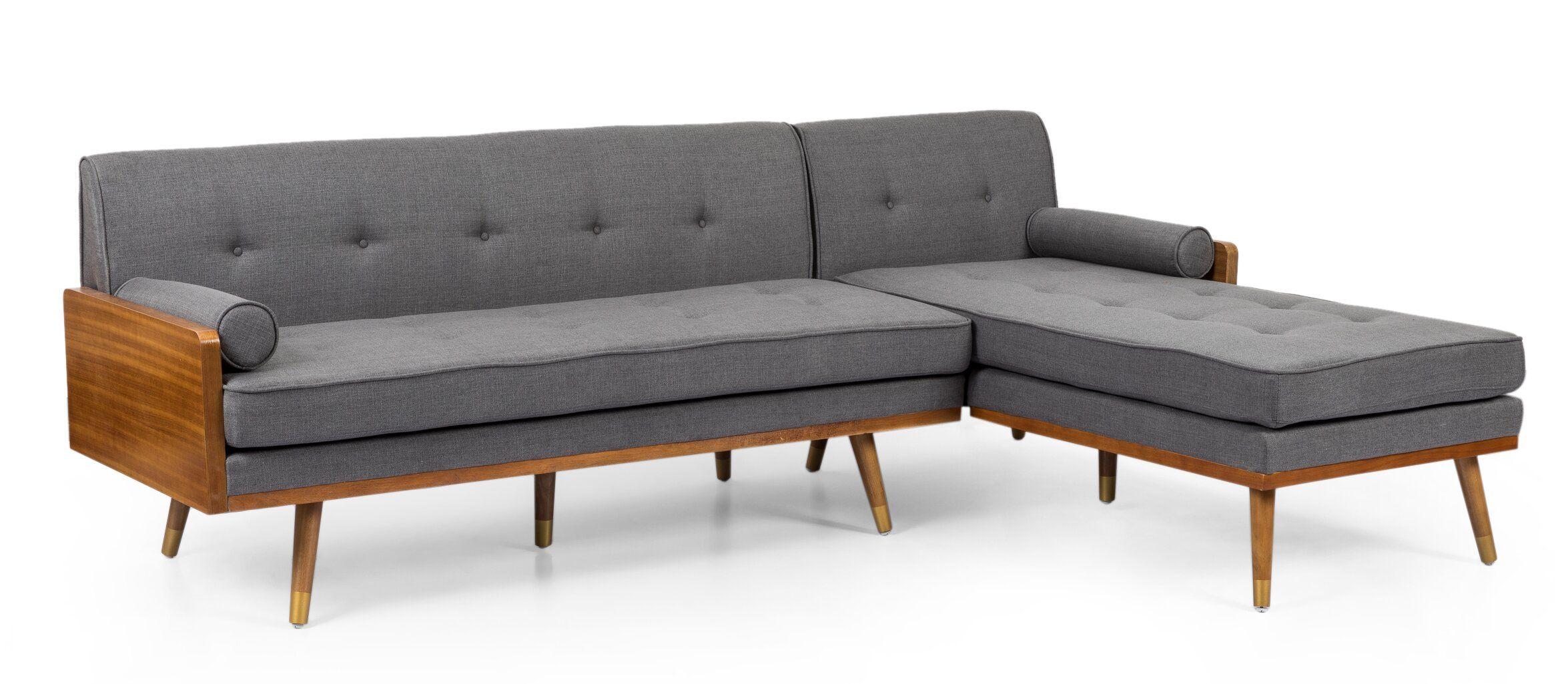 Bridgeport 100 Wide Right Hand Facing Modular Sofa Chaise Mid Century Modern Sectional Sofa Modern Couch Sectional Modular Sofa