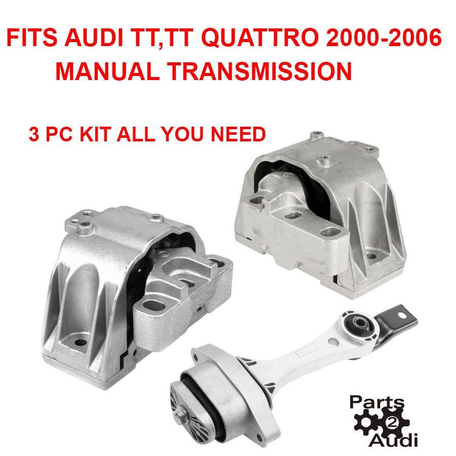 medium resolution of engine motor manual transmission mount set 3pc kit for audi tt tt quattro 1 8l ebay