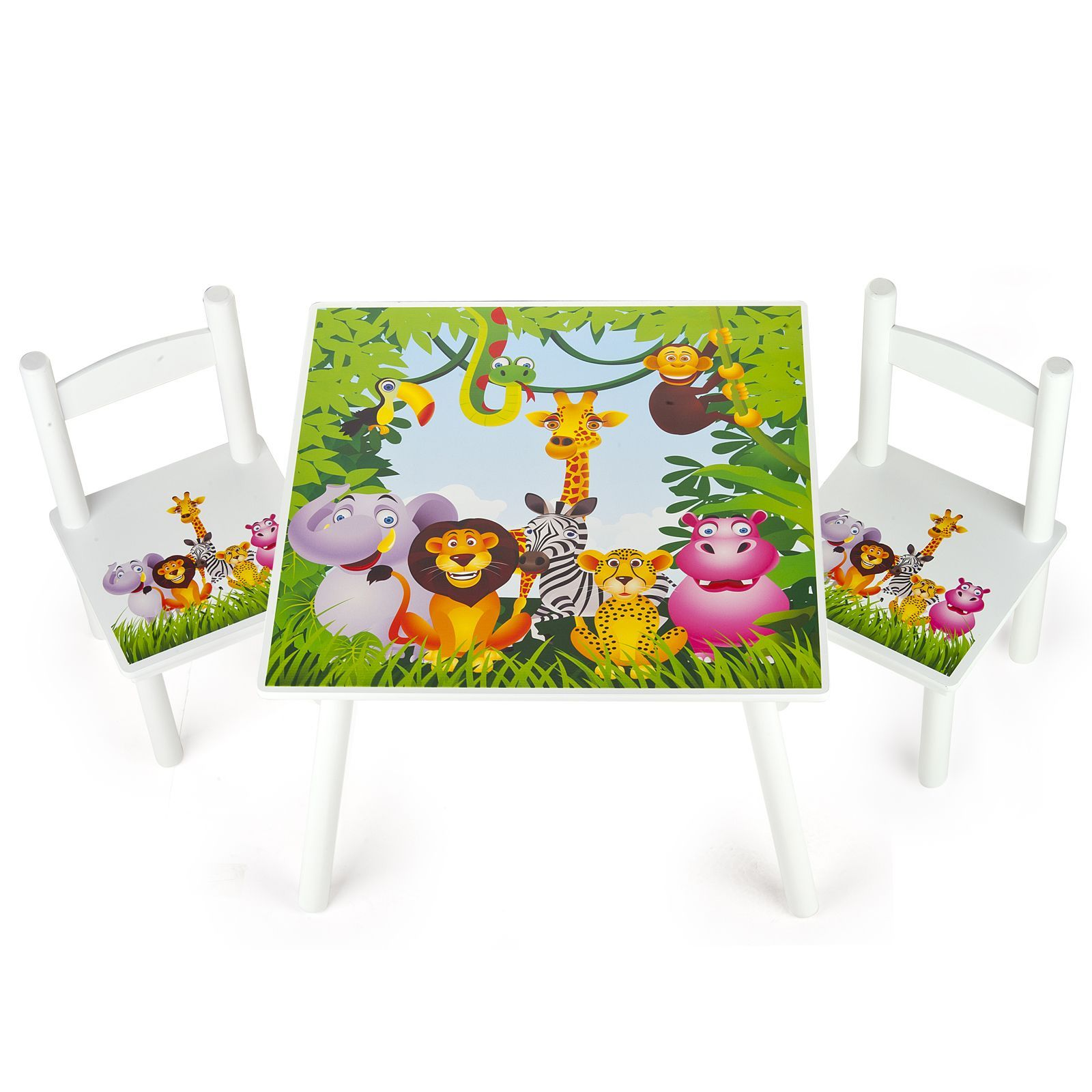 Jungle Animals Wooden Bedroom Furniture U2013 Toy Boxes And Kids Table And  Chairs