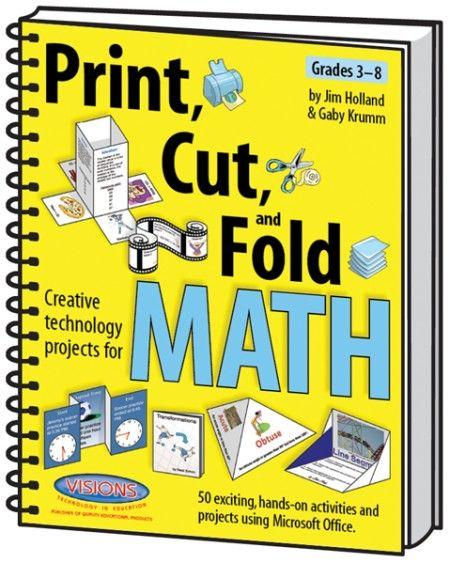 Print cut fold creative math activities