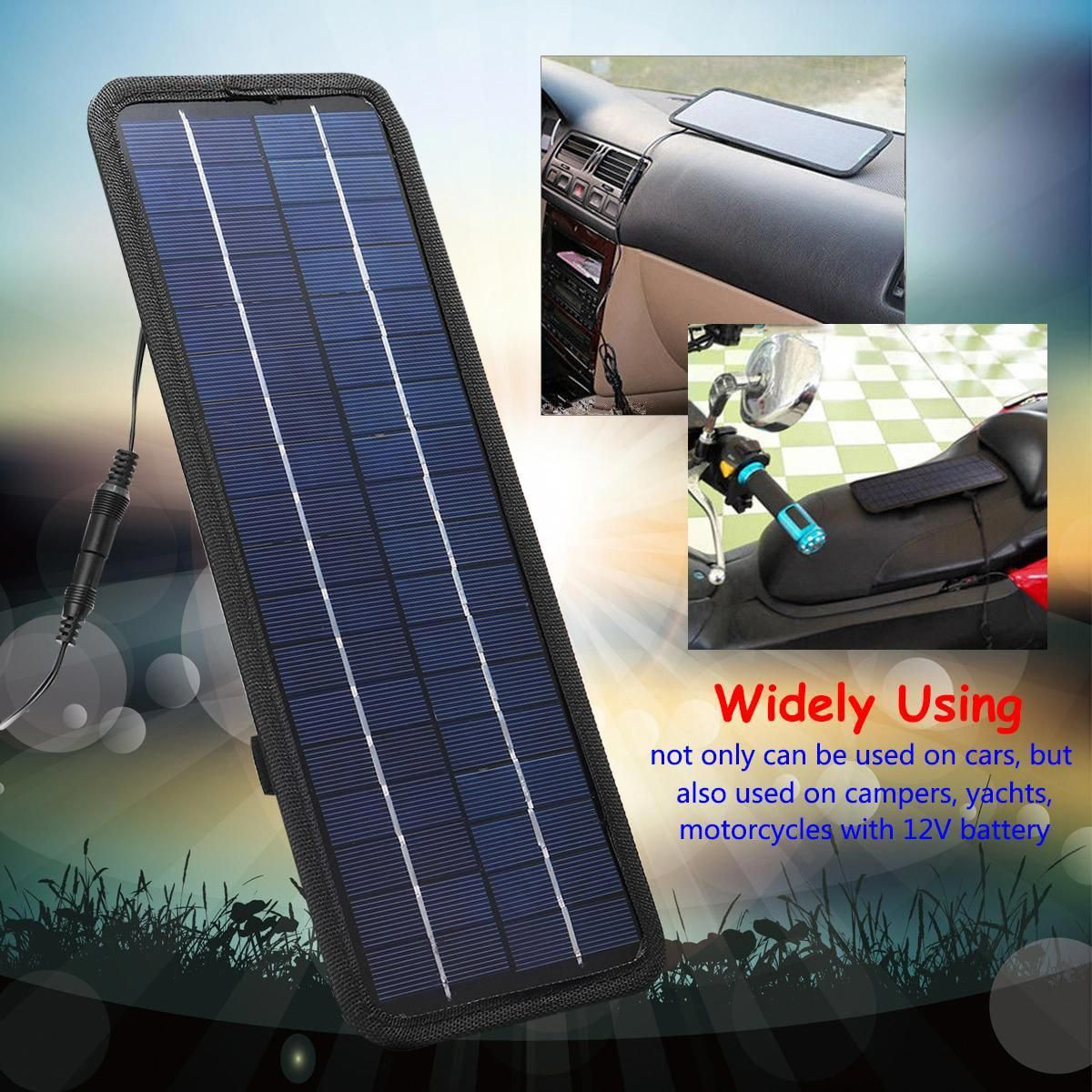 Sold 4498240932 Items 4 5w 12v Portable Boat Car Solar Panel Single Crystal Silicon Trickle Battery Charger Usb Out Off Grid System Battery Charger Phone Plug
