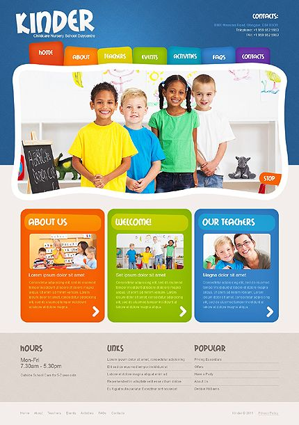 Kindergarten Web Templates   Google  Web Design