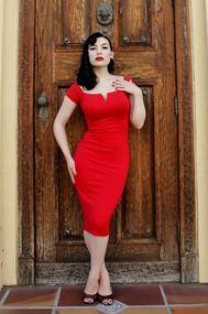 Siren Dress in Red