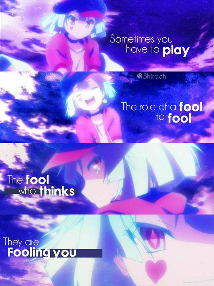 Animeno Game No Life Brain Power Pinterest Frases Anime And