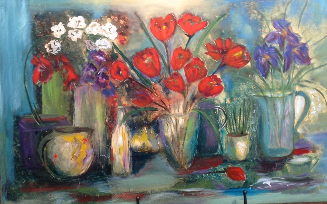 Mary White Sowell Monets Flowers30x48ldur Seasons