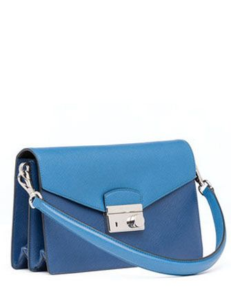 PRADA Saffiano Bi-Color Shoulder Bag