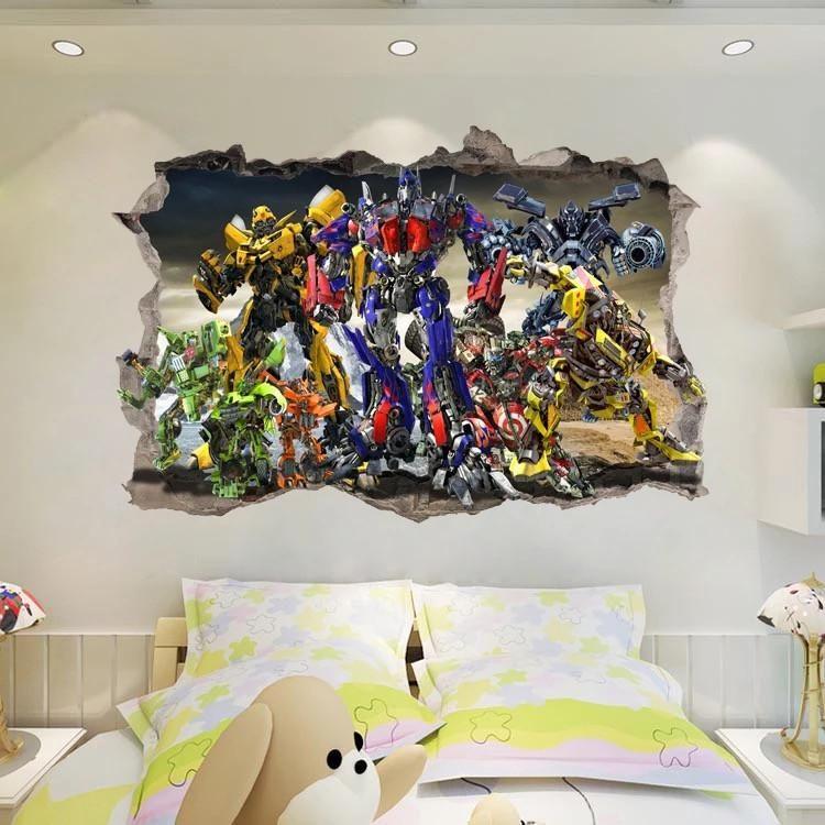 The Flash Superheros Sticker Wall Crack Kids Bedroom Vinyl Posters Decal Art