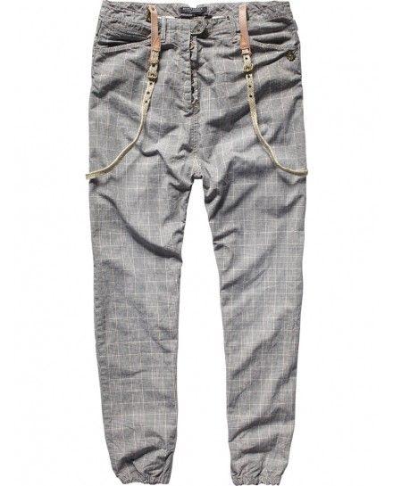 Low crotch pants with button closure Pants Scotch & Soda