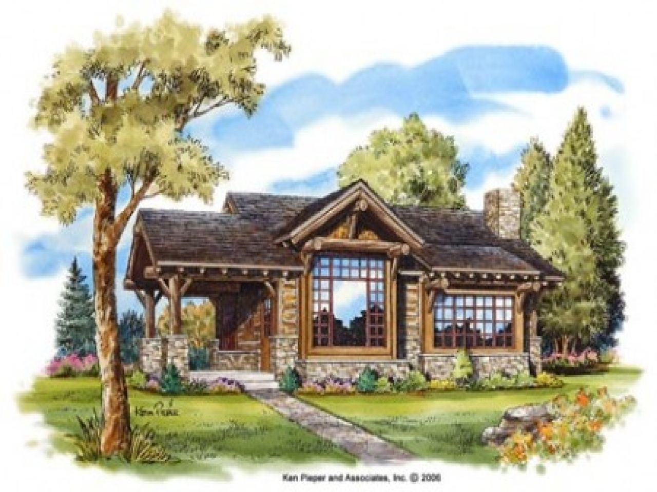 Extremely Ideas Small Mountain House Plans Plain Design American ...