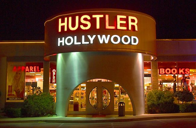 Hustler hollywood retail really. agree