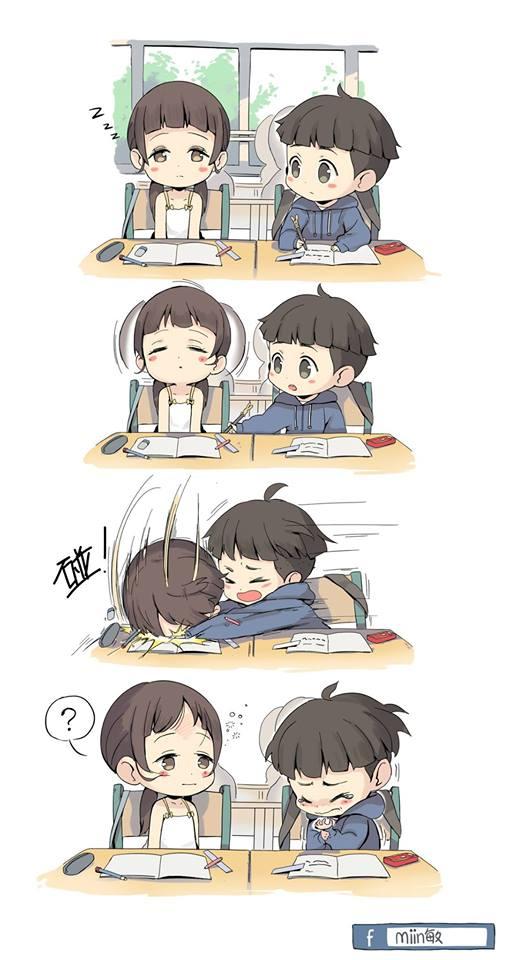 Pin oleh Hạ Tuyết di friends Kartun, Komik romantis