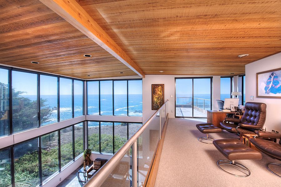 12 Remarkable Home Offices With An Ocean View House And Home Magazine Modern Loft Luxury Homes