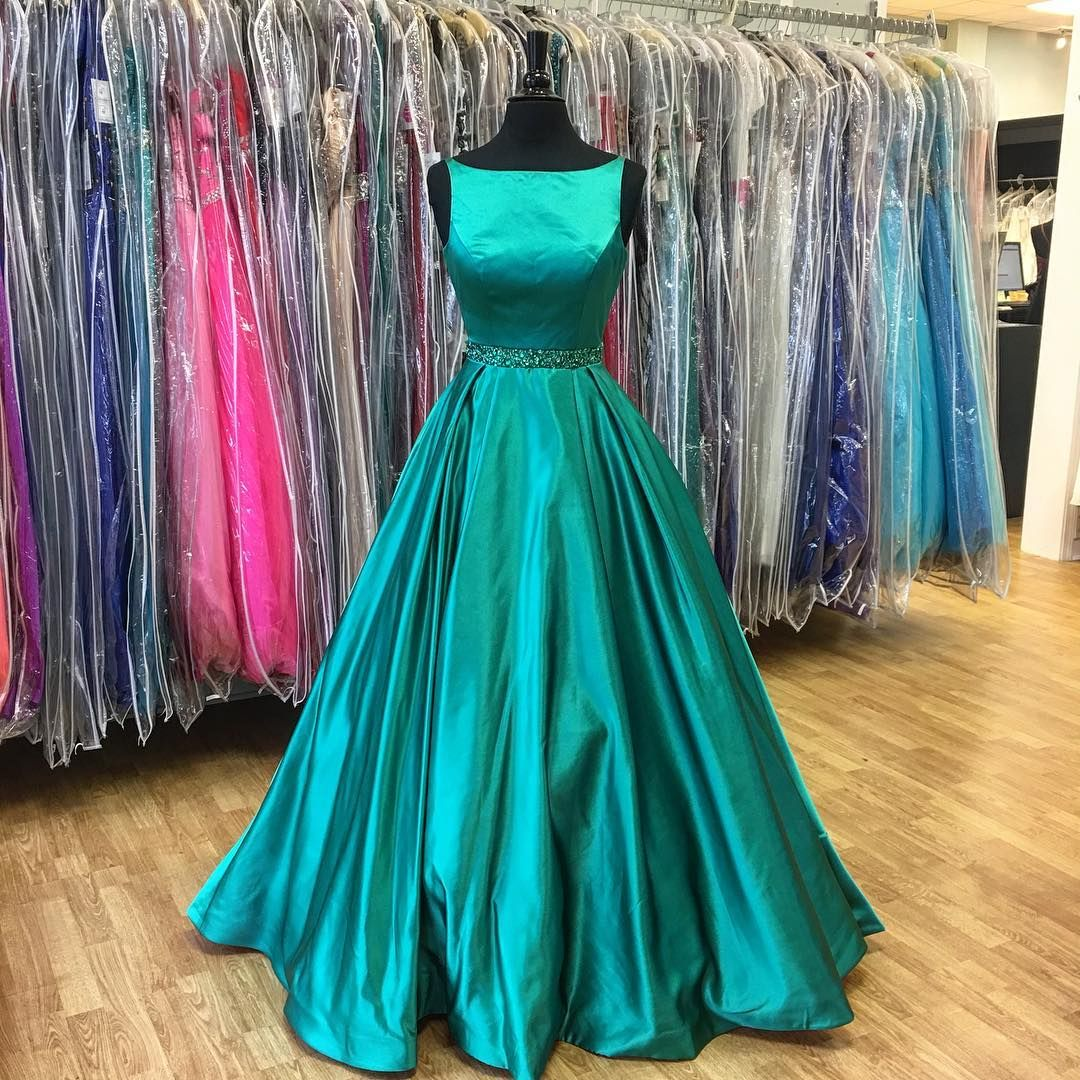 2017 Prom Dress, Long Prom Dress, Dark Teal Prom Dress, Formal ...