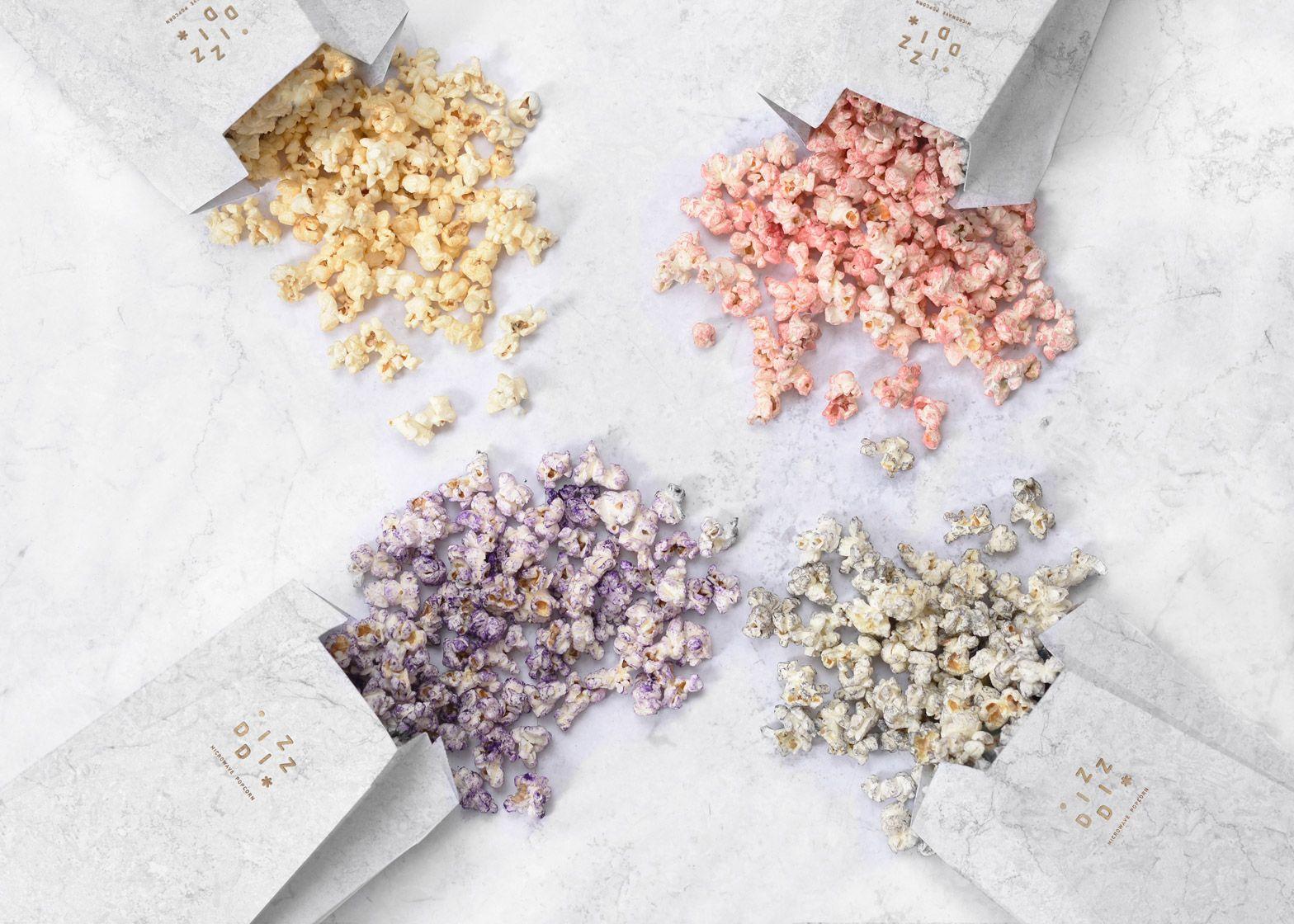 Tatabi Studio designs marbled packaging for gourmet popcorn