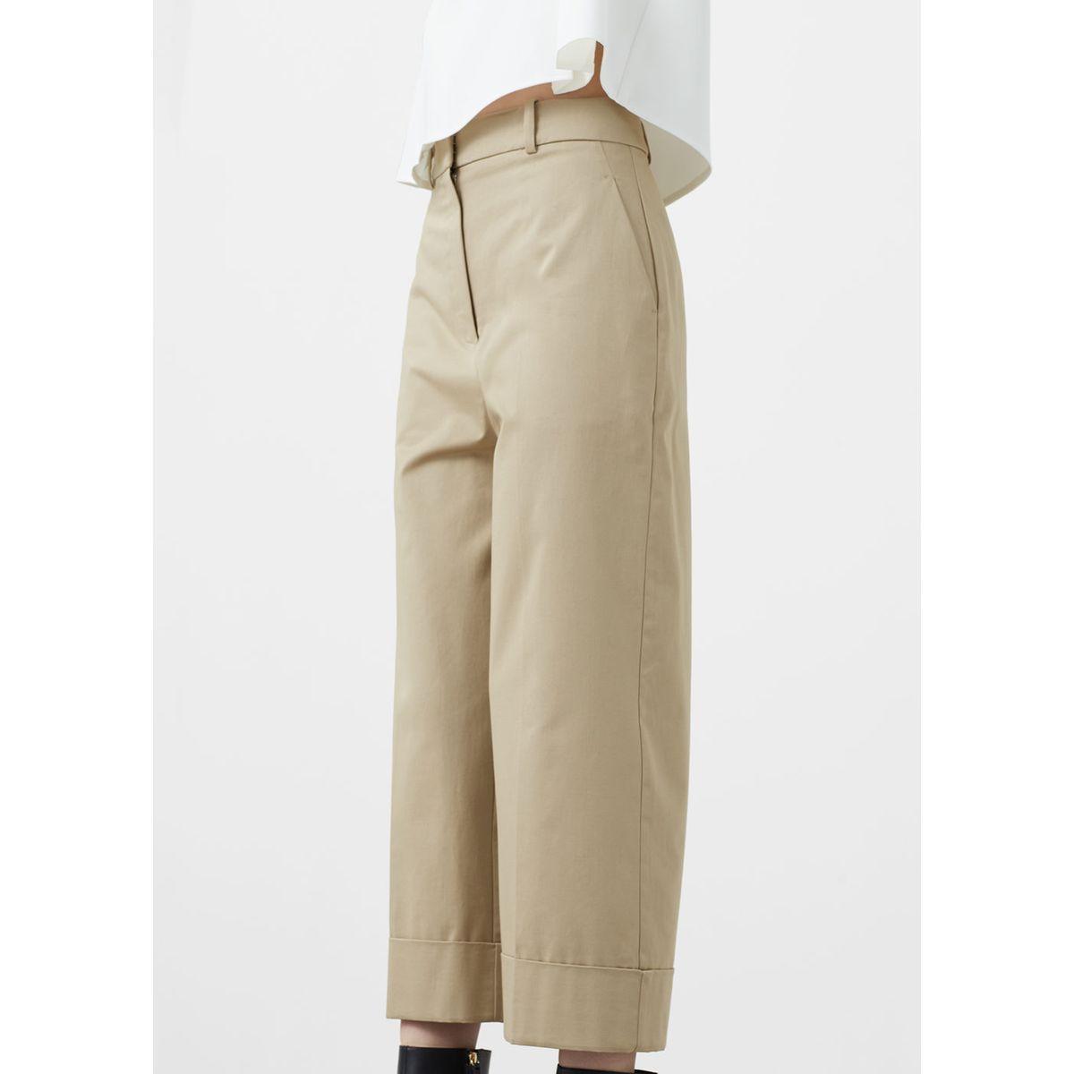 ae8c0e1c244ca Pantalon crop coton beige Mango   La Redoute   womenzzzwear ...