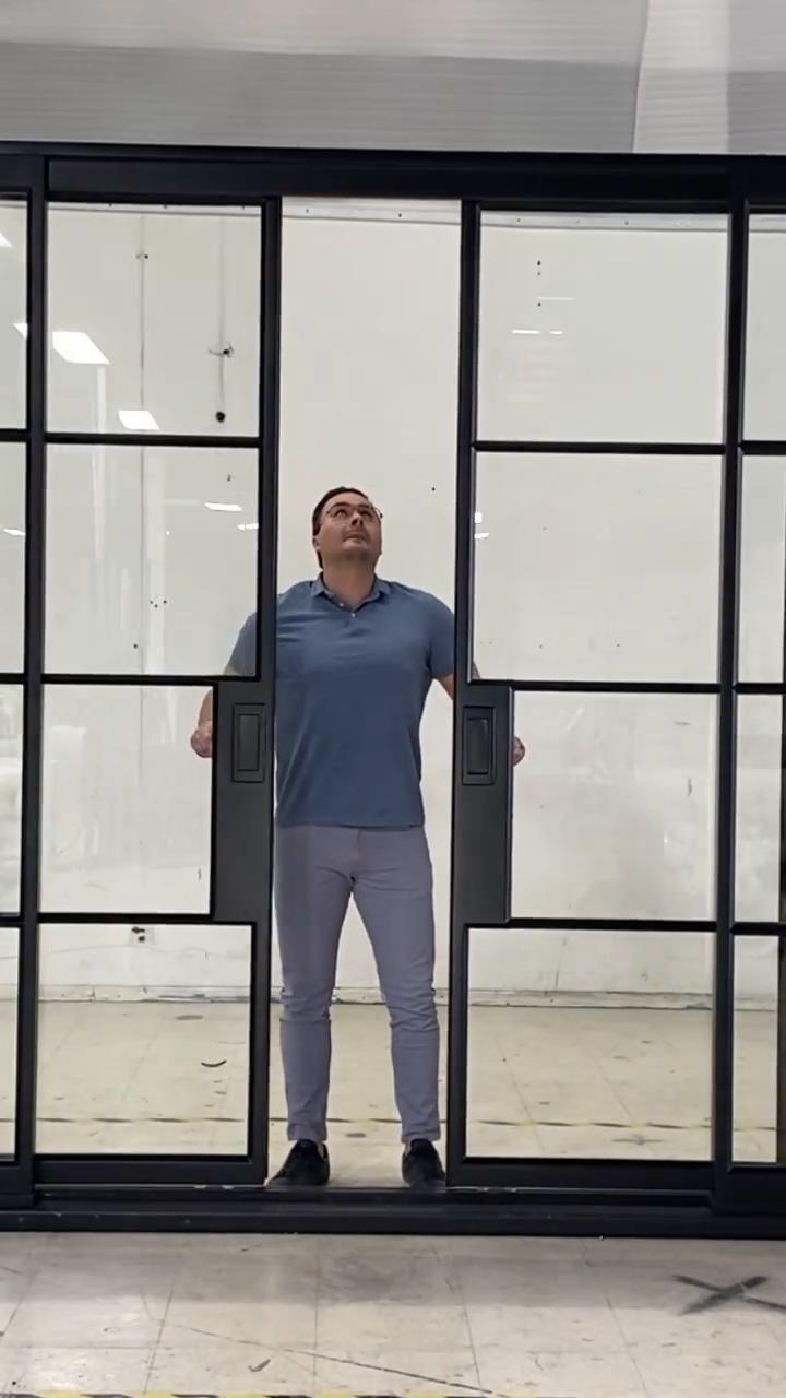 Interior Room Divider, Steel Window Sliding Glass Door
