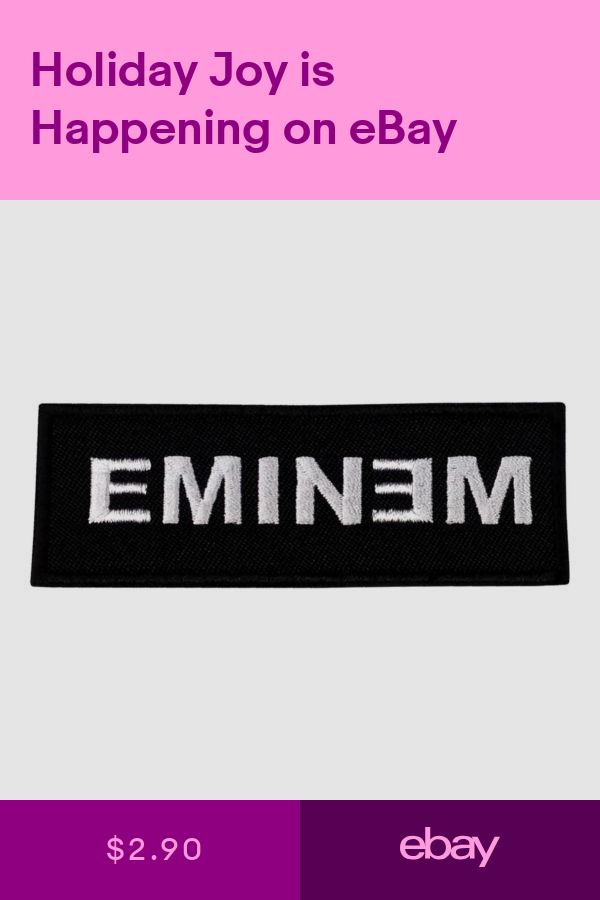 Music Patches Crafts Ebay Iron On Embroidered Patches Eminem Logo Embroidered Patches