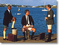 Bermuda shorts - yes the guys do dress like this!