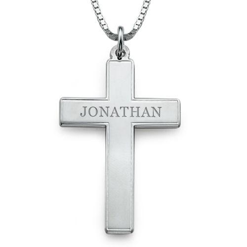 engraved cross necklace for men cross necklaces. Black Bedroom Furniture Sets. Home Design Ideas