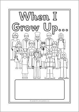 When I Grow Up... editable topic book covers (SB9848