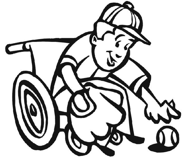 Athletes Children Disabilities Coloring Page