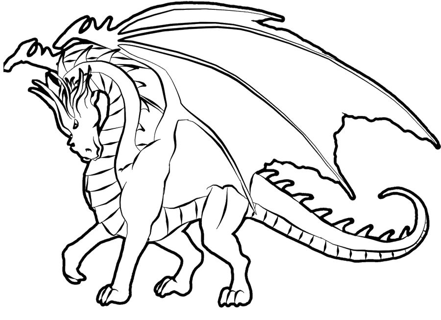 dragon coloring page kids coloring pagescoloring - Free Color Pages For Kids